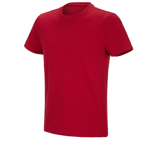 e.s. funkcijska kratka majica  poly cotton
