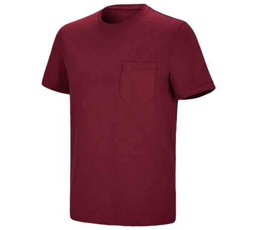e.s. kratka majica cotton stretch z žepom
