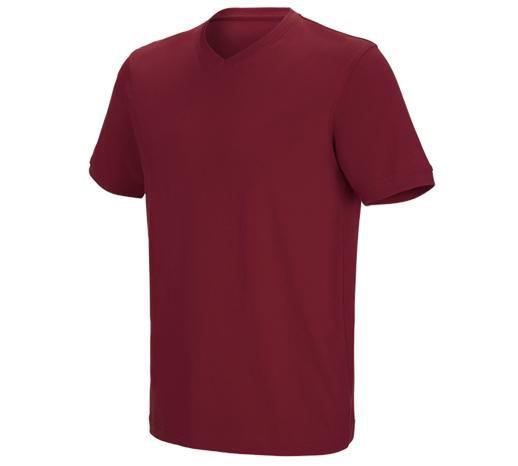 e.s. kratka majica cotton stretch z V-izrezom