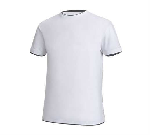 e.s. kratka majica cotton stretch Layer bela/siva,145.png | XS,za običajne postave