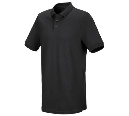 e.s. Polo majica piqué cotton stretch, long fit