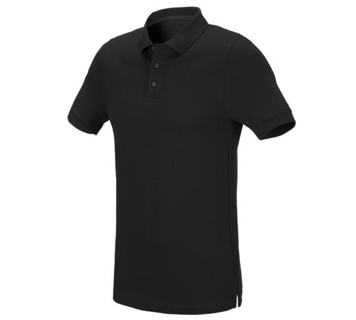 e.s. Polo majica piqué cotton stretch, slim fit