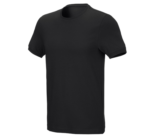 e.s. Kratka majica cotton stretch, slim fit