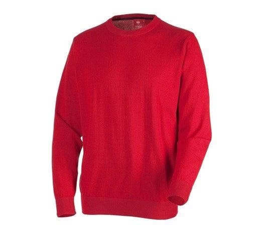 e.s. pleteni pulover, okrogli izrez rdeča,4.png | S,za običajne postave