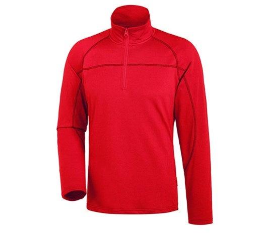 "e.s. Majica s polovično zadrgo ""clima-pro"" ognjeno rdeča,65.png | S,za običajne postave"