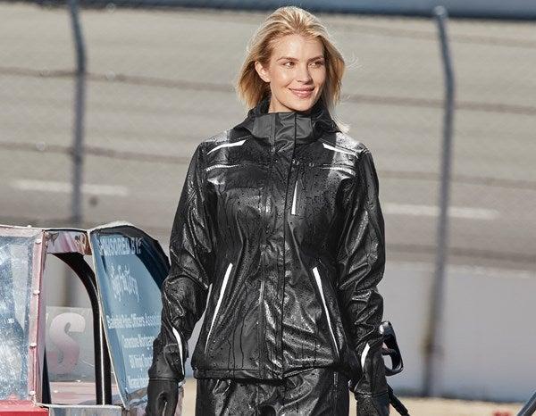 Ženska dežna jakna e.s.motion 2020 superflex črna/platinasta,962.png | XS,za običajne postave