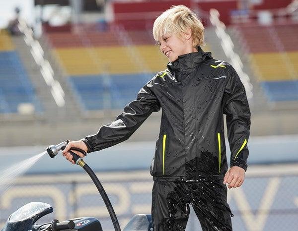 Otroška dežna jakna e.s.motion 2020 superflex črna/opozorilno rumena/opozorilno oranžna,722.png | 98/104,normal