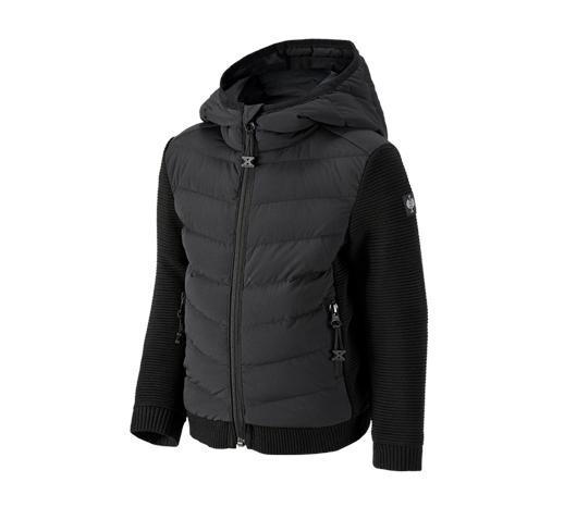 Hibridna pletena jakna s kapuco e.s.motion ten,ot.