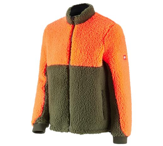 e.s. Gozdarska jakna z vlaknastim krznom