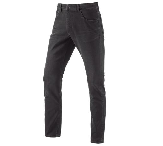 e.s. zimske raztegljive jeans hlače s 5 žepi