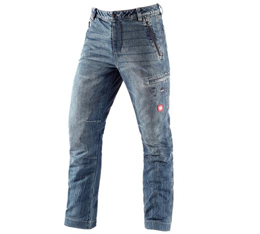 e.s. gozdarske jeans hlače za zaščito pred ureznin