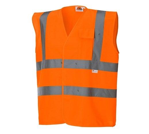 STONEKIT Opozorilni zaščitni brezrokavnik z žepom opozorilno oranžna,818.png | S,za običajne postave