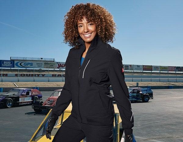 Ženska funk. jakna s krojenim pasom e.s.dynashield črna,1.png | XS,za običajne postave