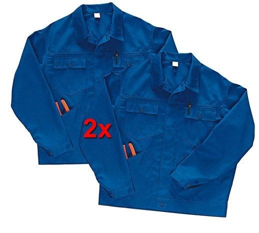 Poklicna jakna Economy, dvojno pakiranje živo modra,17.png | S,za običajne postave