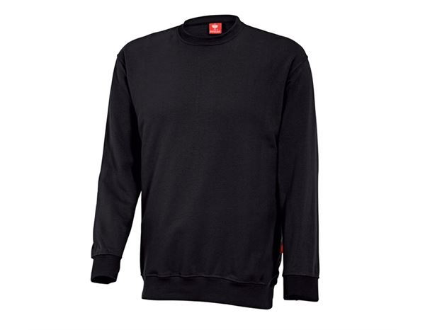 Pullover: e.s. Sweatshirt poly cotton + schwarz
