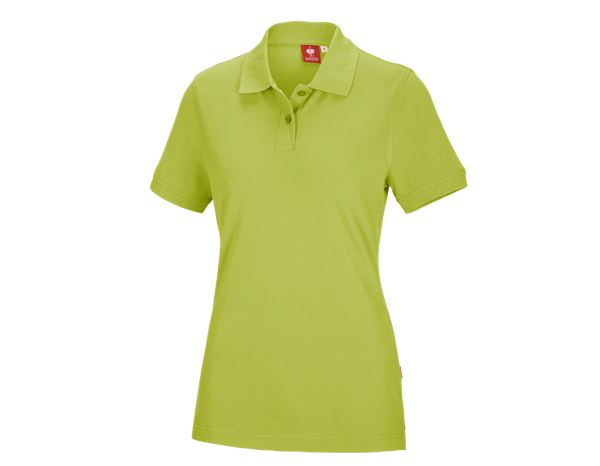 Shirts & Co.: e.s. Polo-Shirt cotton, Damen + maigrün