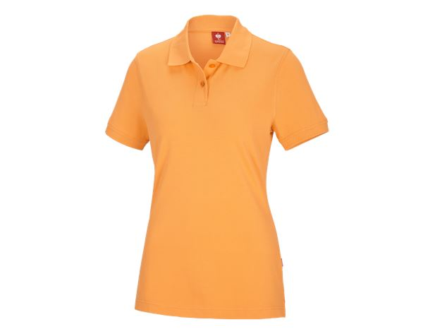 Shirts & Co.: e.s. Polo-Shirt cotton, Damen + hellorange