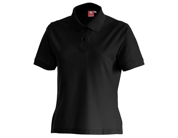 Shirts & Co.: e.s. Polo-Shirt cotton, Damen + schwarz