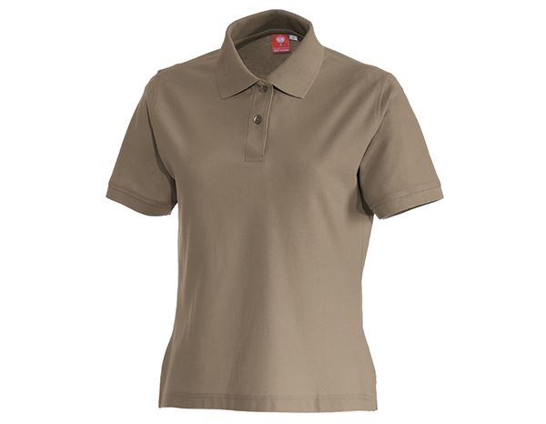 Shirts & Co.: e.s. Polo-Shirt cotton, Damen + khaki