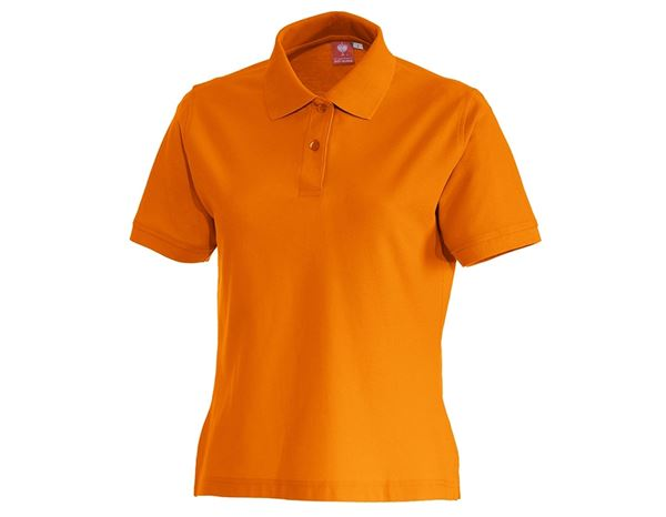 Shirts & Co.: e.s. Polo-Shirt cotton, Damen + orange