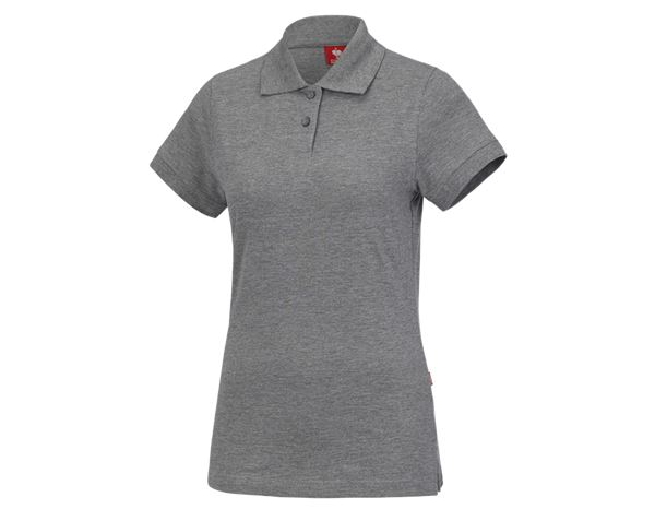 Shirts & Co.: e.s. Polo-Shirt cotton, Damen + graumeliert