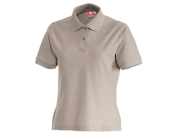 Shirts & Co.: e.s. Polo-Shirt cotton, Damen + lehm