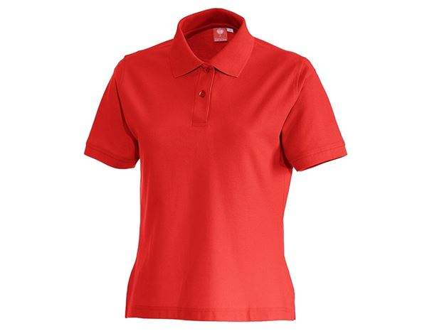 Shirts & Co.: e.s. Polo-Shirt cotton, Damen + feuerrot