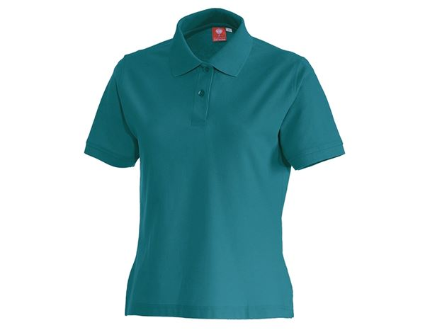 Shirts & Co.: e.s. Polo-Shirt cotton, Damen + petrol
