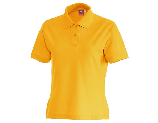 Shirts & Co.: e.s. Polo-Shirt cotton, Damen + gelb