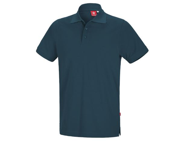 Shirts & Co.: e.s. Polo-Shirt cotton + seeblau
