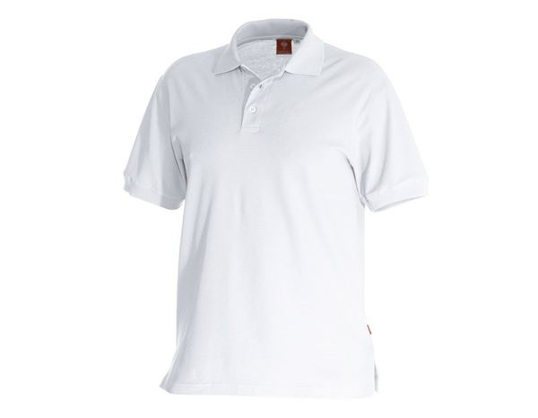 Shirts & Co.: e.s. Polo-Shirt cotton + weiß
