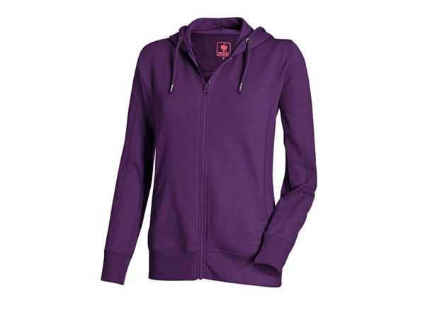 Shirts & Co.: e.s. Hoody-Sweatjacke poly cotton, Damen + violett