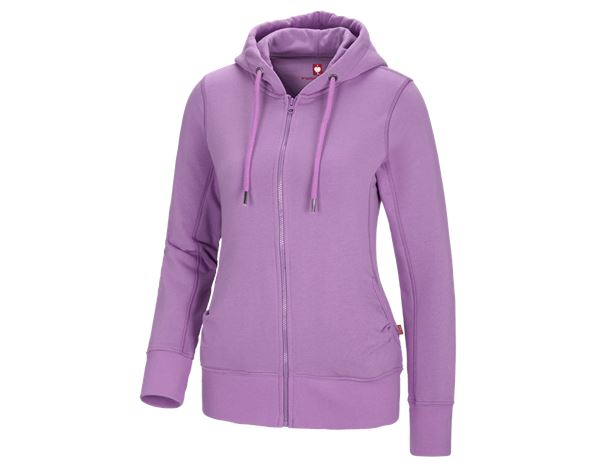Shirts & Co.: e.s. Hoody-Sweatjacke poly cotton, Damen + lavendel