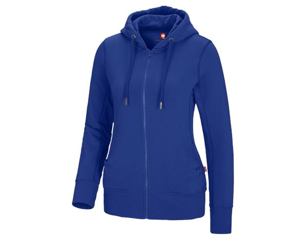 Shirts & Co.: e.s. Hoody-Sweatjacke poly cotton, Damen + kornblau