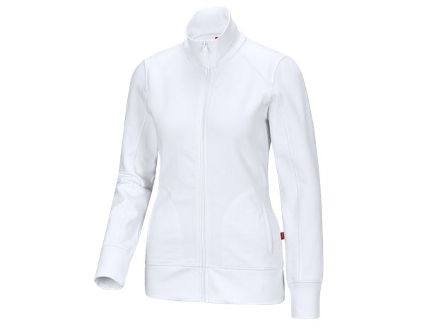 Shirts & Co.: e.s. Sweatjacke poly cotton, Damen + weiß
