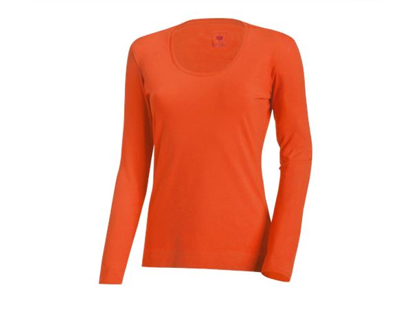 Shirts & Co.: e.s. Longsleeve cotton stretch, Damen + nektarine