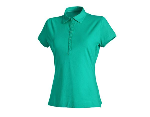 Shirts & Co.: e.s. Polo-Shirt cotton stretch, Damen + lagune