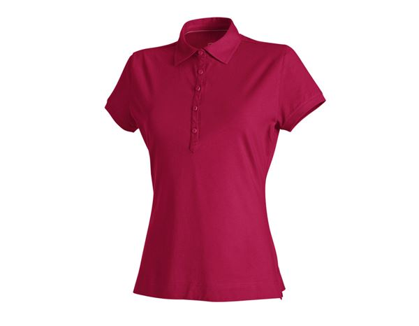 Shirts & Co.: e.s. Polo-Shirt cotton stretch, Damen + beere