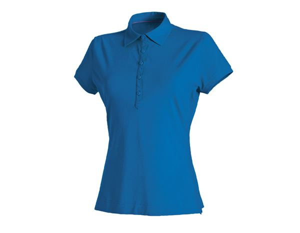 Shirts & Co.: e.s. Polo-Shirt cotton stretch, Damen + enzianblau