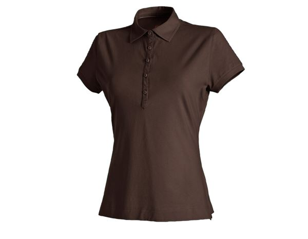 Shirts & Co.: e.s. Polo-Shirt cotton stretch, Damen + kastanie