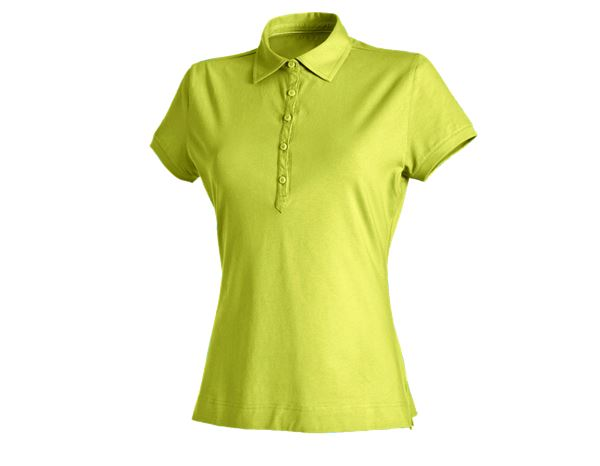 Shirts & Co.: e.s. Polo-Shirt cotton stretch, Damen + maigrün
