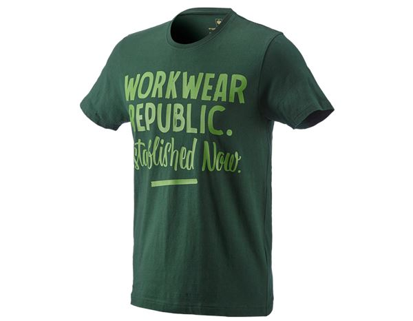 Shirts & Co.: e.s. T-Shirt workwear republic + grün/seegrün