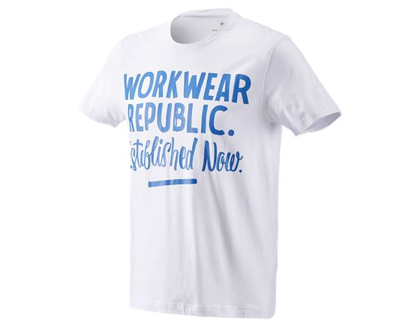Shirts & Co.: e.s. T-Shirt workwear republic + weiß/enzianblau
