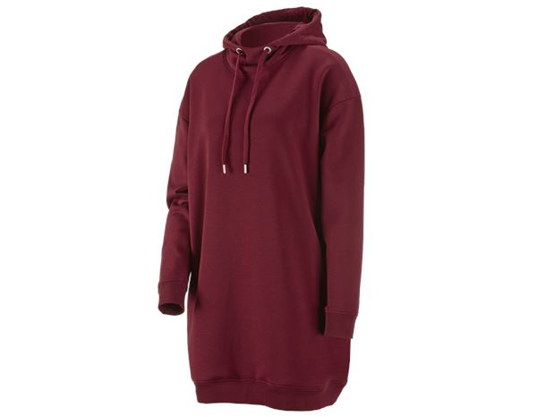 Shirts & Co.: e.s. Oversize Hoody-Sweatshirt poly cotton, Damen + bordeaux