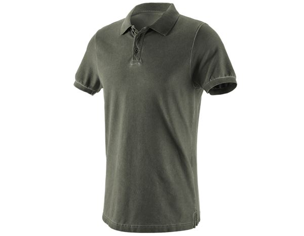 Polo-Shirts: e.s. Polo-Shirt vintage cotton stretch + tarngrün vintage