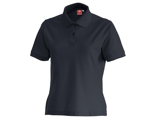 Shirts & Co.: Polo-Shirt cotton, Damen + dunkelblau