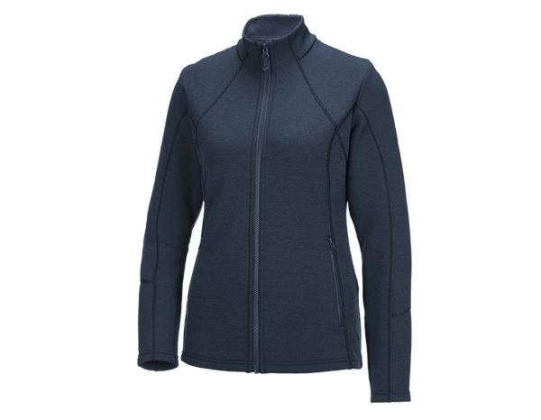 Shirts & Co.: e.s. Funktions Sweatjacke melange, Damen + pazifik melange