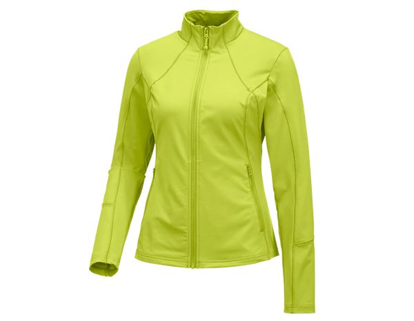Jacken: e.s. Funktions Sweatjacke solid, Damen + maigrün