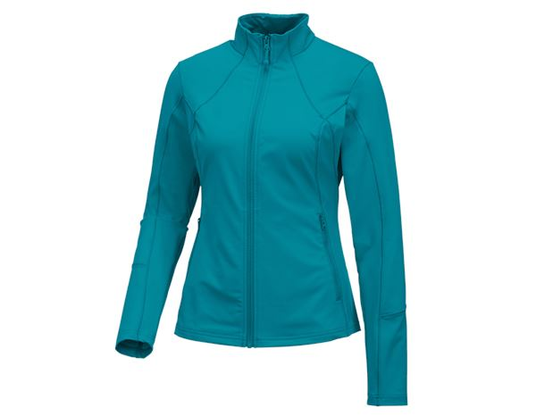 Jacken: e.s. Funktions Sweatjacke solid, Damen + ozean