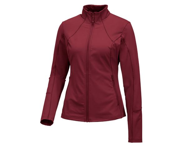 Jacken: e.s. Funktions Sweatjacke solid, Damen + rubin